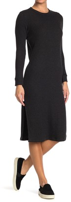 NSF Ariel Long Sleeve Side Slit Dress