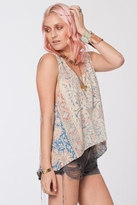 Chaser LA Vintage Tapestry Drapey Muscle Tee in Sandwash