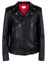 Gucci tiger embroidered biker jacket - men - Lamb Skin - 48