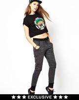 Pa:nuu Panuu Leopard Print Sweatpants (Exclusive to ASOS) - Grey