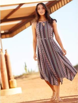 M&Co Tribal print hanky hem dress