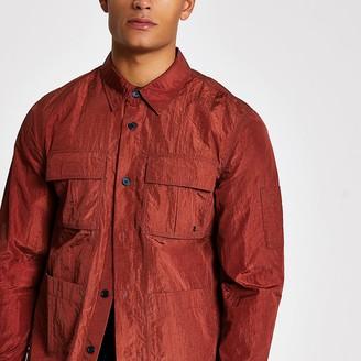 River Island Rust long sleeve regular fit overshirt
