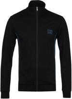 Boss Black Zip Through Funnel Neck Sweatshirt