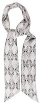 Thomas Wylde Silk Skeleton Scarf