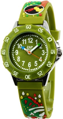 Baby Watch 3700230605996 - Zap Prehistoric Childrens WatchAnalogue QuartzGreen Dial Green Plastic Strap