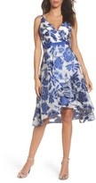 Adrianna Papell Women's Burnout Jacquard Fit & Flare Dress