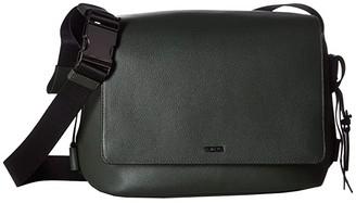 Tumi Mezzanine Gwen Flap Crossbody (Olive) Cross Body Handbags
