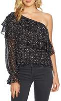 1 STATE Women's 1.state One-Shoulder Tiered Blouse