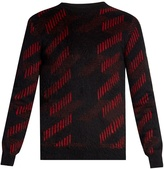 Saint Laurent Striped-intarsia mohair-blend sweater