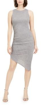 Vince Camuto Asymmetrical Metallic Sheath Dress