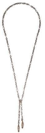 David Yurman Smoky Quartz & Diamond Lariat Necklace