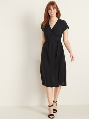Old Navy Wrap-Front Midi Dress for Women