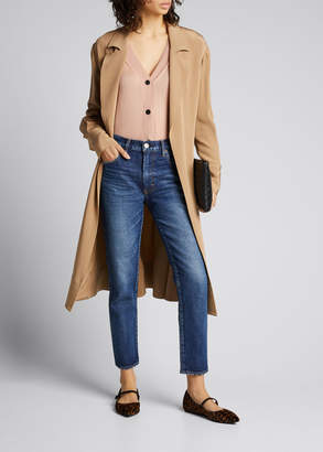Moussy Vintage Cameron Dark-Wash Skinny Jeans