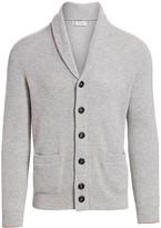 Brunello Cucinelli Shawl Collar Ribbed Cashmere Cardigan