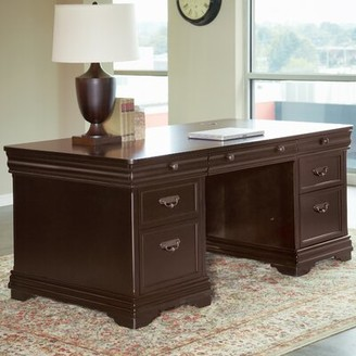 """Lou Executive Desk Darby Home Co Size: 30"""" H x 72"""" W x 24"""" D"""