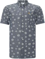 Farah Classic Fit Short Sleeve Shirt In Sketched Spot P