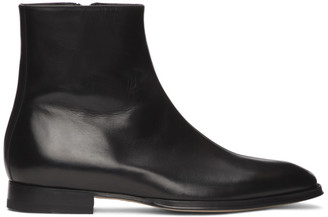 Paul Smith Black Reeves Zip-Up Boots
