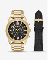 Express oversized rivington multi-function watch gift set