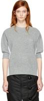 Sacai Grey & White Hybrid Shirt Pullover