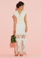Anna Sui A Question of Timeless Maxi Dress in White