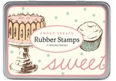 Cavallini & Co. 3-Assorted Rubber Stamps Sets, Sweet Treats