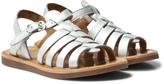 Pom D'Api Silver Plagette Strap Sandals