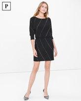 White House Black Market Petite Black Embellished Blouson Dress