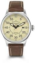 Torgoen Pilot T34 Series T34103 45mm Stainless Steel Case Brown Leather Mineral Men's Watch