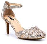Alex Marie Delina Jeweled Hotfix Ankle-Strap Pumps