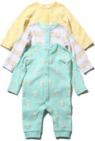 M&Co Bunny floral and spot print footless sleepsuits three pack