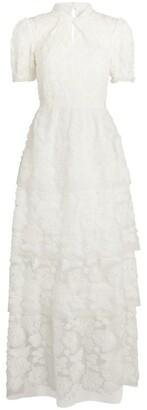 Self-Portrait Bridal Embroidered Lace Maxi Dress