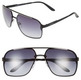 Carrera Men's Eyewear 64Mm Navigator Sunglasses - Matte Black/ Grey Gradient