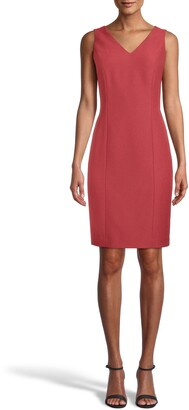 Anne Klein Ridge Crest Sleeveless Sheath Dress