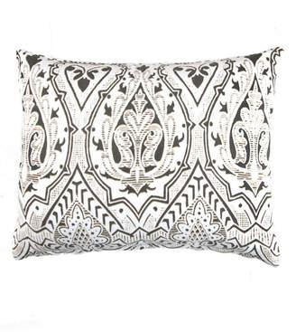 Caskata Cotton Velvet Lumbar Pillow With Feather and Down Insert Bedding