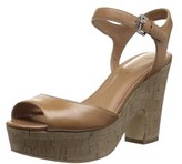 Marc Fisher Womens Calia 2 Leather Open Toe Casual Platform Sandals.