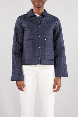 Selected Navy Night Sky Renea Cropped Quilted Jacket - 34