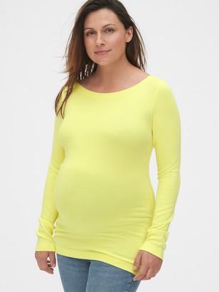 Gap Maternity Modern Long Sleeve Boatneck T-Shirt