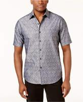 Tasso Elba Men's Rosso Paisley Shirt, Created for Macy's
