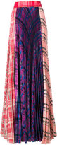 Daizy Shely pleated panel maxi skirt