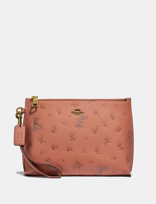 Coach Disney X Charlie Pouch With Mixed Dalmatian Print