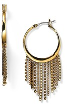 Diane von Furstenberg Shaky Fringe Hoop Earrings