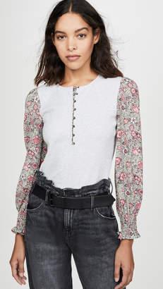 Rebecca Taylor Long Sleeve Camilla Sleeveless Jersey Top