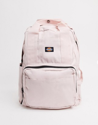 Dickies backpack with laptop sleeve in light pink