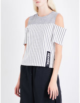 Izzue Cold-shoulder cotton-jersey top