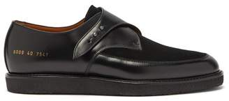 Common Projects Creeper Leather And Suede Monk Strap Shoes - Womens - Black