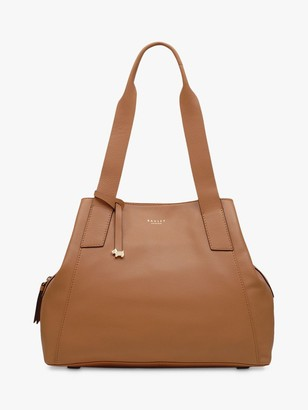 Radley Baylis Road Medium Leather Zip Top Shoulder Bag, Tan
