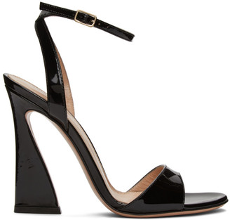 Gianvito Rossi Black Ankle Strap Curved Heels