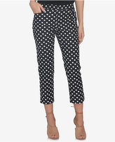 CeCe Dot-Print Cropped Pants