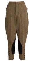 Miu Miu Hound's-tooth high-rise trousers