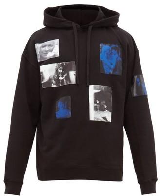 Raf Simons Picture Print Cotton Jersey Hooded Sweatshirt - Mens - Black